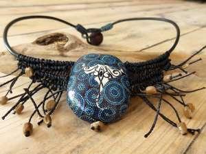 Collier Raie Manta bleue