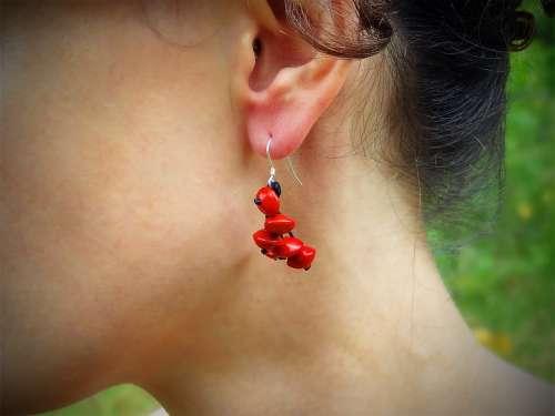 Boucles d'oreilles Bouquet de Roses