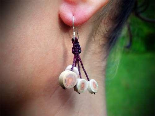 Boucles d'oreilles Oursin Crayon