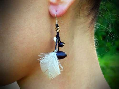 Boucles d'oreilles Contraste