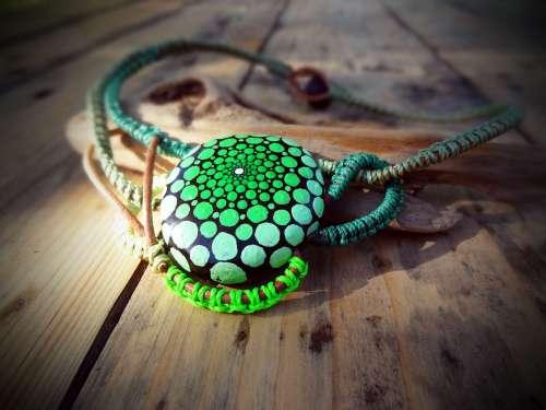 Collier Hypnose  vert