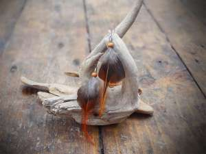Boucles d'oreilles plumes feu